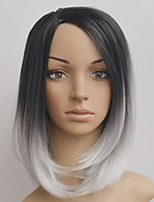 Europe And The United States The New Black And White Gradient BOBO Short Straight Hair Wig