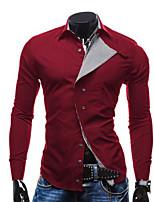 Men's Slim Casual Long Sleeve Shirts