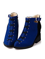 Women's Shoes  Chunky Heel Fashion Boots Boots Dress Blue/Red
