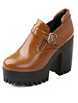 Women's Shoes Chunky Heel Fashion Boots Boots Office & Career/Dress/Casual Black/Burgundy