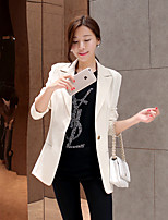 Women's Solid Multi-color Blazer , Casual/Party/Work Notch Lapel Long Sleeve