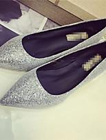Women's Shoes  Stiletto Heel Pointed Toe Pumps/Heels Dress Black/Silver