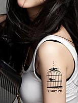 5Pcs Waterproof Butterfly Birdcage Pattern Temporary Body Art Tattoo Sticker