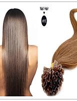 Brazilian Human Virgin Hair Keratin Hair Extensions U Shape Nail Tip Hair Extensions 1G/S 100G/PC 1Pc/Lot In Stock