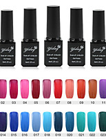 1PC Yiday Soak-off UV & LED Color Gel Polish (No.1-24 Colors Available)