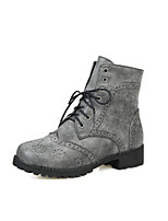 Women's Shoes Low Heel Combat Boots/Round Toe Boots Office & Career/Dress/Casual Yellow/Red/Gray