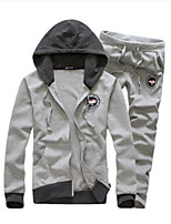 Sets Activewear Uomo Casual/Attività sportive Manica lunga Cotone