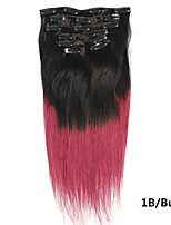 1pc/Lot 18Inch/45cm 100s/Pack 0.7g/s multicolors Straight clip in hair Extension Grade5A Human Hair Extension