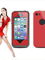 For iPhone 5 Case Dustproof / Shockproof / Waterproof Case Full Body Case Solid Color Hard PC iPhone SE/5s/5