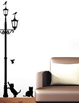 3 Little Cat under Street Lamp DIY Wall Stickers Wallpaper Art Decor Mural Room Decal