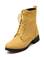 Women's Shoes Fleece Chunky Heel Fashion Boots/Round Toe Boots Dress/Casual Black/Yellow/Green/Red/Gray