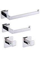Contemporary Mirror Polished Wall Mounted Bathroom Accessory Sets