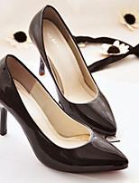 Women's Shoes Faux Leather Stiletto Heel Heels Pumps/Heels Dress/Casual Black/Yellow/Purple/White