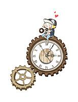 Morden 3D Effect Wooden Gear Wall Clock 21.85*15.75 inch / 55.5*40cm