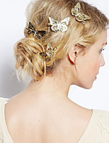 Women Alloy Hollow Out Butterfly Hair Clip With Casual/Outdoor Headpiece Gold