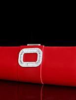 Bolsos de noche ( Rojo , Cristal / Cristal ) - Satén