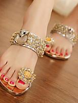 Women's Noble Comfortable Low Heel Flip Flops Sandals Peep Toe Peep Toe  Sparkling Glitter Shoes