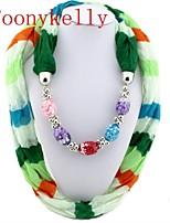 Toonykelly®Women Vintage Look Colorful Acrylic Cotton Neckerchief (1PC)