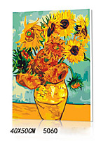 DIY Digital Oil Painting With Solid Wooden Frame Family Fun Painting All By Myself      Van Gogh Sunflower 5060