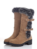 Women's Shoes  Chunky Heel Fashion Boots/Round Toe Boots Outdoor/Casual Black/Brown/Green