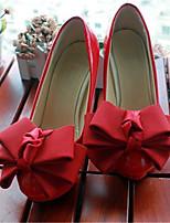 Women's Shoes Leather Stiletto Heel Heels Pumps/Heels Wedding/Party & Evening Red