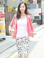 Women's Vintage/Casual Micro-elastic Medium Long Sleeve Pure Color Loose V-neck Cardigan