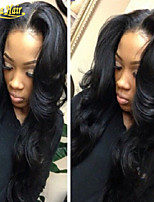 Body Wave Lace Front Wigs Malaysian Virgin Human Hair Glueless Full Wigs with Bleached Knots Baby Hair for Women