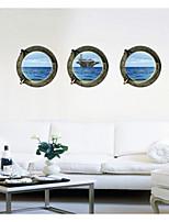 Set of 3 3D DIY Ocean Wall Stickers Art Decals