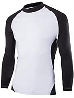 Men's Casual/Sport Long Sleeve Regular T-Shirt (Cotton Blend)