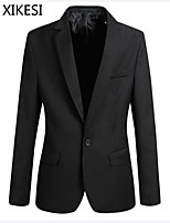 Men's Casual/Work Pure Long Sleeve Regular Blazer (Cotton Blend/Polyester) XKS7C24