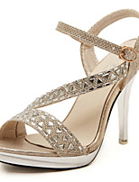 Women's Shoes Glitter Stiletto Heel Slingback T-Strap Comfort Sandals Party More Colors available