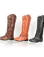 Chaussures Femme - Extérieure / Décontracté - Noir / Marron / Brun Clair - N / A - Bout Arrondi - Bottes - Faux Cuir