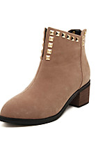 Women's Shoes Low Heel Fashion Boots Boots Casual Black/Beige