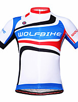 WOLFBIKE Men's Summer Sport Jersey Bike Cycling Bicycle MTB Quick Dry Top Zipper Breathable Short Sleeve Shirt