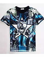 Men's High Quality Creative Realistic Thriller Original Particularly Summer Breathable 3D Style T-Shirt——Glasses
