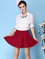 Women's Fashion Solid Color A-line Skirts