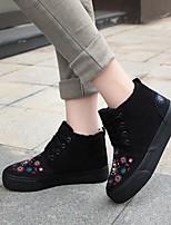 Scarpe Donna - Sneakers alla moda - Tempo libero / Casual - Plateau / Punta arrotondata - Plateau - Di corda - Nero / Blu / Rosso