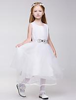 A-linja Tylli/Polyesteri Flower Girl Dress - Hihaton - Polvipituinen