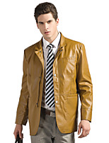 Men's Casual/Work/Formal/Sport Long Sleeve Regular Jacket (PU) PU leather jacket business casual fashion trend
