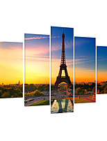 VISUAL STAR®Eiffel Tower Landscape Stretched Canvas Art For Home Decoration