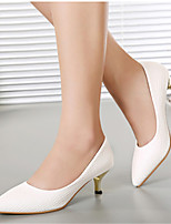 Women's Shoes  Kitten Heel Pointed Toe Pumps/Heels Office & Career/Casual Black/White