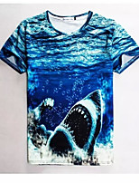 Men's High Quality Creative Animal Terrorist Natural Realistic Original Summer Breathable 3D Style T-Shirt——The Shark