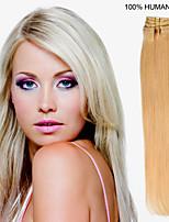 18-Zoll-7pcs / set 70g Clip-in Haar remy Menschenhaarverlängerungen 27 Farben für Frauen Schönheit