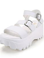Women's Shoes Faux Leather Platform Platform Sandals Dress/Casual Black/White