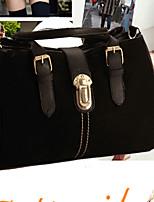 Women 's PU Sling Bag Tote - Blue/Red/Black