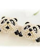 Sweet Panda Pearl Earrings