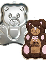 FOUR-C Bear Shape Aluminum Cake Baking Tools Baking Pan Mold