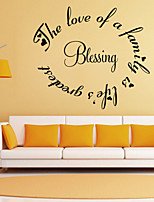 Wall Stickers Wall Decals Style Blessing English Words & Quotes PVC Wall Stickers