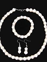Elegant Jewelry Sets With Freshwater Pearl And Rhinestone .