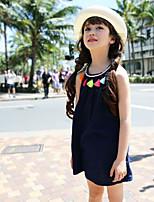 Girl's Acrylic/Chiffon/Polyester Dress , Summer